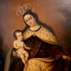 Arte: EXCEPCIONAL OLEO LIENZO DE LA VIRGEN DEL CARMEN,S. XVIII. Lote 178066408