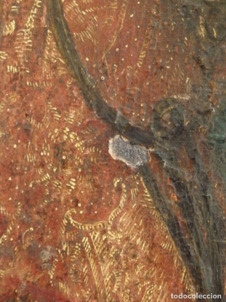 Arte: El Descendimiento de Cristo. Óleo sobre tabla de la escuela flamenca del siglo XVI. Mide 50 x 35 cm. - Foto 16 - 178069622