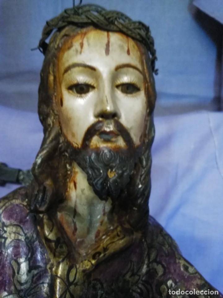 Arte: VIA CRUCIS PASSION Jesus Christ Olot and wood. Colonial Peru.Century 18 - 19 - Foto 8 - 177757967