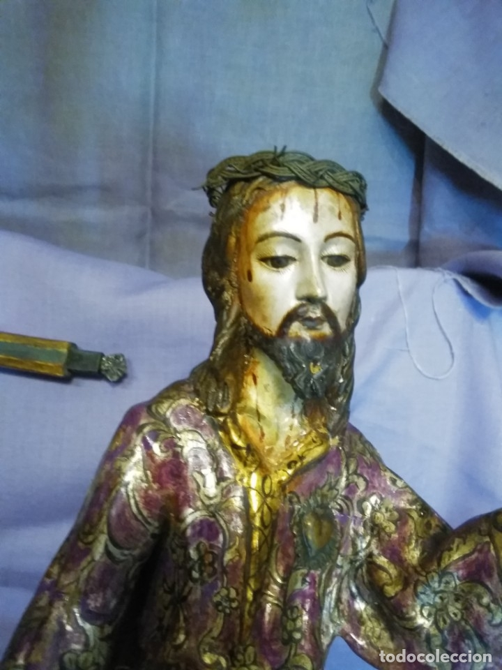 Arte: VIA CRUCIS PASSION Jesus Christ Olot and wood. Colonial Peru.Century 18 - 19 - Foto 18 - 177757967