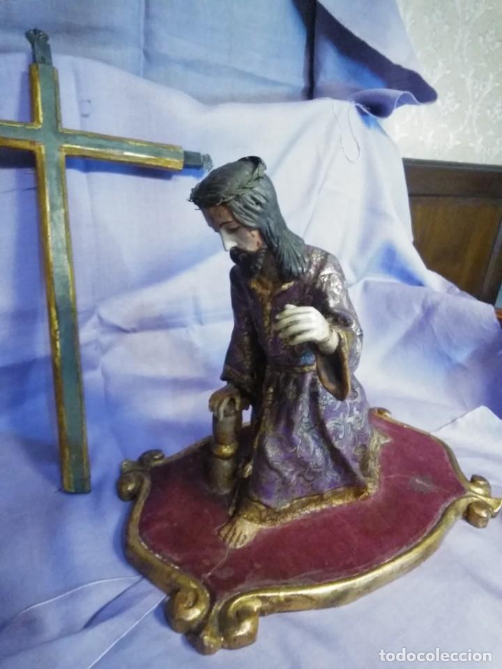 Arte: VIA CRUCIS PASSION Jesus Christ Olot and wood. Colonial Peru.Century 18 - 19 - Foto 19 - 177757967