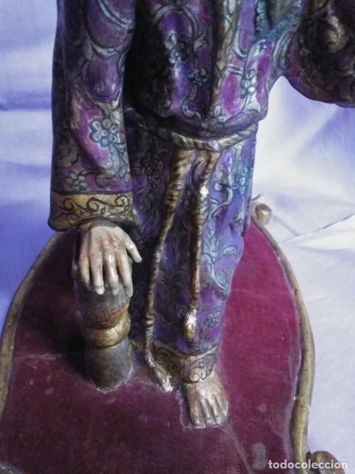Arte: VIA CRUCIS PASSION Jesus Christ Olot and wood. Colonial Peru.Century 18 - 19 - Foto 14 - 177757967