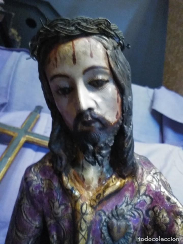 Arte: VIA CRUCIS PASSION Jesus Christ Olot and wood. Colonial Peru.Century 18 - 19 - Foto 20 - 177757967