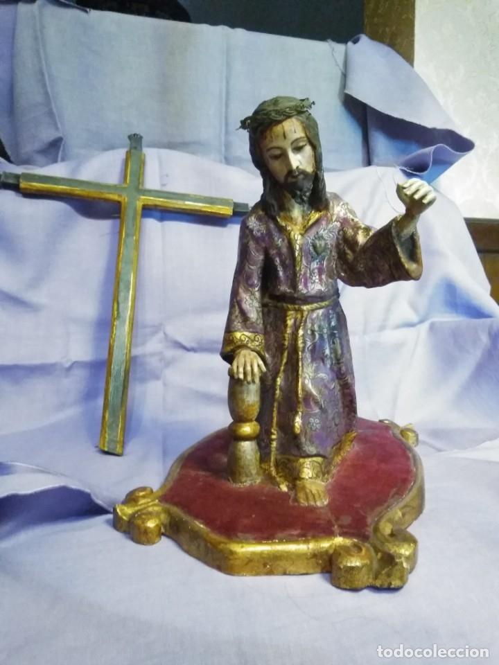 Arte: VIA CRUCIS PASSION Jesus Christ Olot and wood. Colonial Peru.Century 18 - 19 - Foto 21 - 177757967