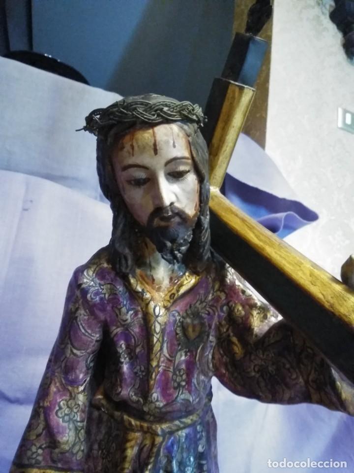 Arte: VIA CRUCIS PASSION Jesus Christ Olot and wood. Colonial Peru.Century 18 - 19 - Foto 22 - 177757967