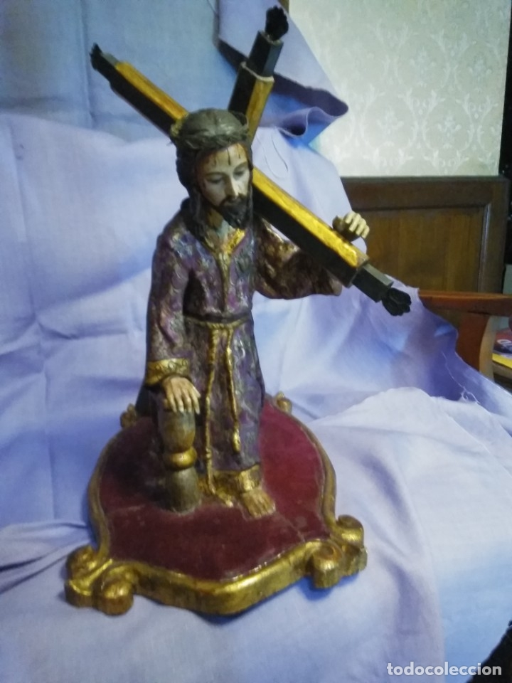 Arte: VIA CRUCIS PASSION Jesus Christ Olot and wood. Colonial Peru.Century 18 - 19 - Foto 23 - 177757967