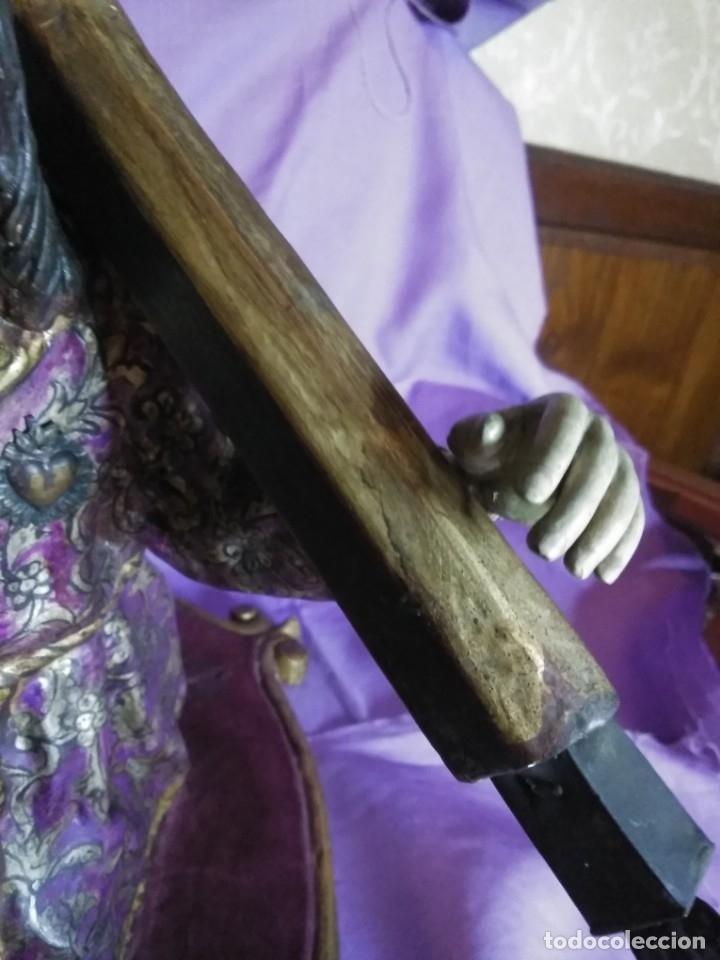 Arte: VIA CRUCIS PASSION Jesus Christ Olot and wood. Colonial Peru.Century 18 - 19 - Foto 24 - 177757967