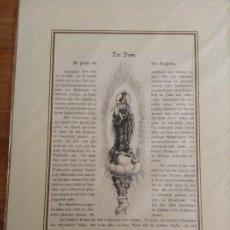 Arte: DOS LITOGRAFÍAS DE DESCRIPCIONES: VIRGEN DEL PILAR LA CATEDRAL DEL ZARAGOZA. Lote 178098959