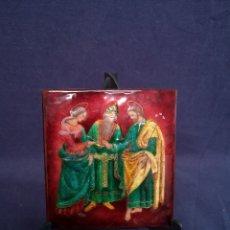Arte: ESMALTE CON PINTURA RELIGIOSA. Lote 178123584