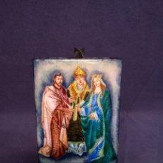 Arte: ESMALTE CON PINTURA RELIGIOSA. Lote 178123779