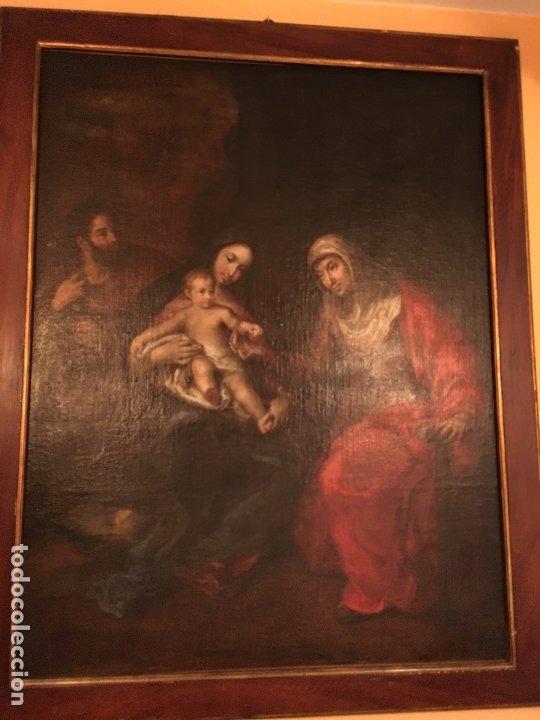 IMPRESIONANTE SAGRADA FAMILIA DE GRAN TAMAÑO (Arte - Arte Religioso - Pintura Religiosa - Oleo)