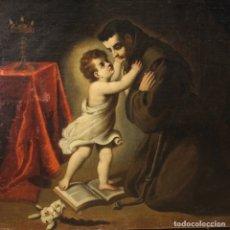 Arte: PINTURA RELIGIOSA ITALIANA ANTIGUA SAN ANTONIO DEL SIGLO XVIII. Lote 178183058