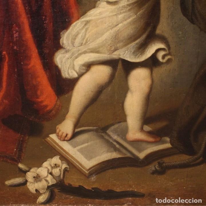 Arte: Pintura religiosa italiana antigua San Antonio del siglo XVIII - Foto 4 - 178183058