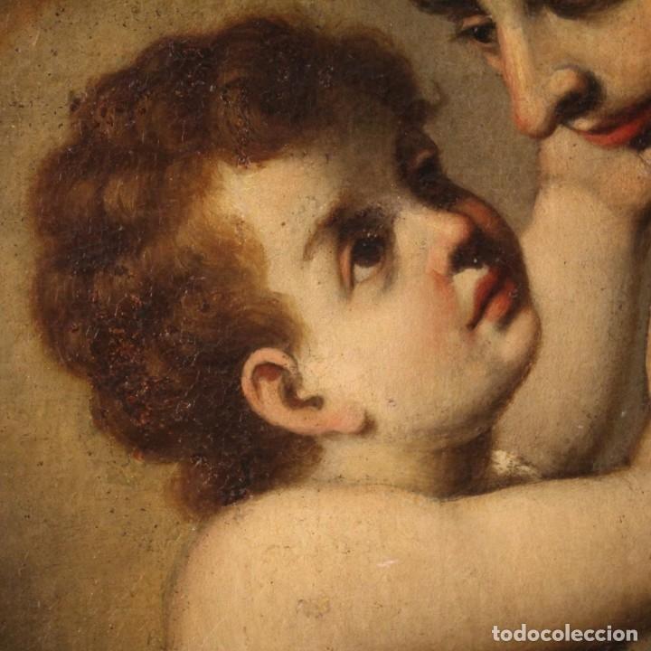 Arte: Pintura religiosa italiana antigua San Antonio del siglo XVIII - Foto 5 - 178183058