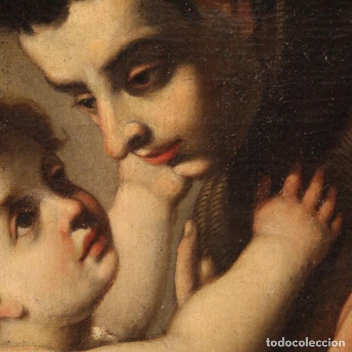 Arte: Pintura religiosa italiana antigua San Antonio del siglo XVIII - Foto 6 - 178183058