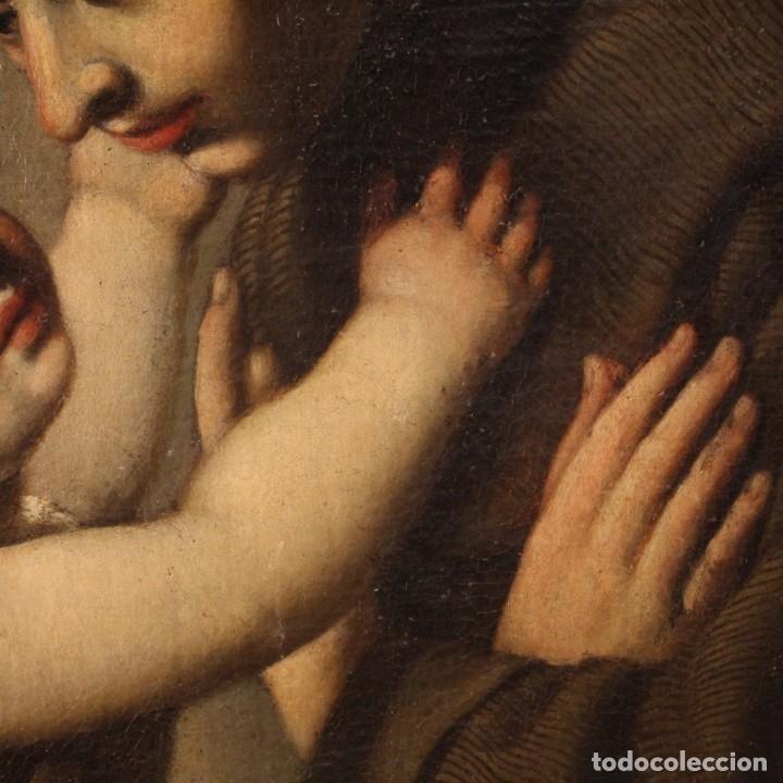 Arte: Pintura religiosa italiana antigua San Antonio del siglo XVIII - Foto 7 - 178183058