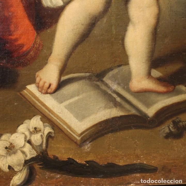 Arte: Pintura religiosa italiana antigua San Antonio del siglo XVIII - Foto 8 - 178183058