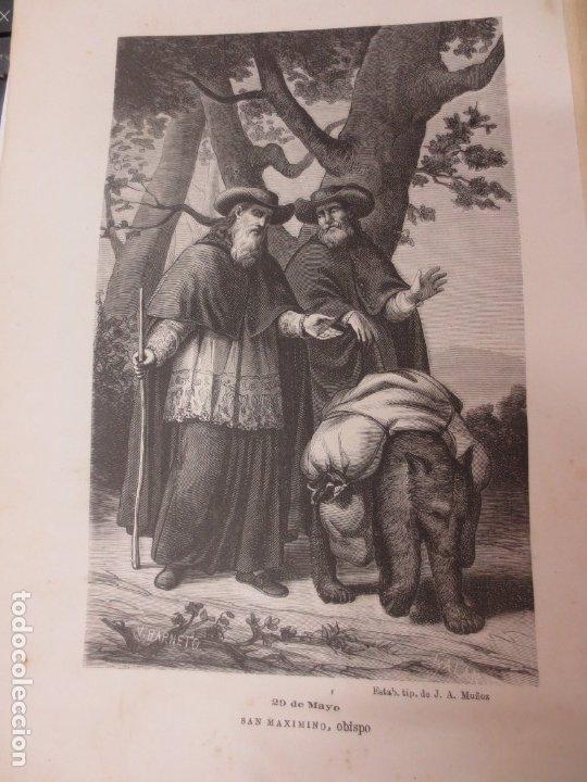 LÁMINA LITOGRAFÍA RELIGIOSA SAN MAXIMINO (Arte - Arte Religioso - Litografías)