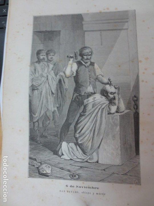 LÁMINA LITOGRAFÍA RELIGIOSA SAN SEVERO (Arte - Arte Religioso - Litografías)