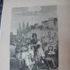 Arte: LÁMINA LITOGRAFÍA LOS INNUMERABLES MARTIRES DE ZARAGOZA. Lote 178197743