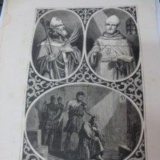 Arte: LÁMINA LITOGRAFÍA RELIGIOSA SAN NARCISO, SAN PEDRO PASCUAL Y SAN QUINTIN. Lote 178201936