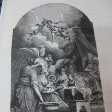 Arte: LÁMINA LITOGRAFÍA RELIGIOSA LA NATIVIDADA DE NUESTRA SEÑORA. Lote 178203007