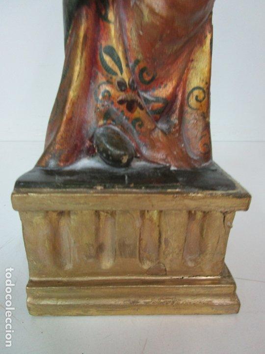 Arte: Bonita Virgen con Niño - Talla de Madera Policromada y Dorada - S. XVIII - Foto 2 - 178229822