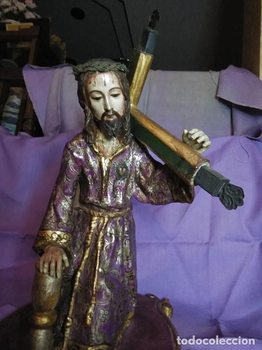 Arte: VIA CRUCIS PASSION Jesus Christ Olot and wood. Colonial Peru.Century 18 - 19 - Foto 3 - 177757967