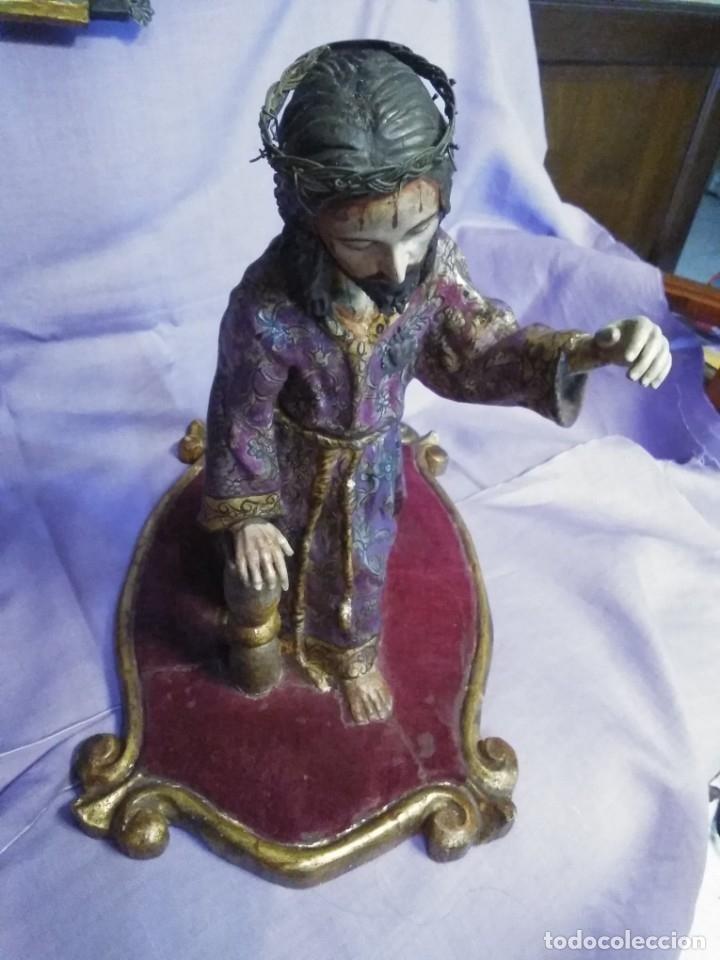 Arte: VIA CRUCIS PASSION Jesus Christ Olot and wood. Colonial Peru.Century 18 - 19 - Foto 26 - 177757967
