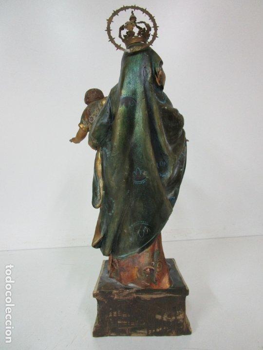 Arte: Bonita Virgen con Niño - Talla de Madera Policromada y Dorada - S. XVIII - Foto 19 - 178229822