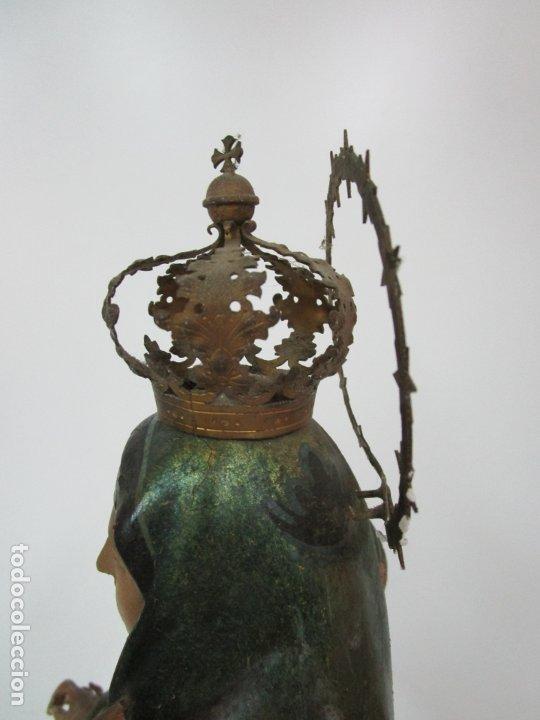 Arte: Bonita Virgen con Niño - Talla de Madera Policromada y Dorada - S. XVIII - Foto 21 - 178229822