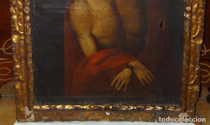 Arte: ECCE HOMO ESCUELA DE VALLADOLID S XVII OLEO Y MARCO SI XVII - Foto 4 - 178272061