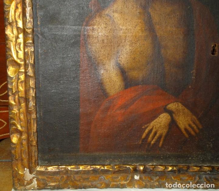 Arte: ECCE HOMO ESCUELA DE VALLADOLID S XVII OLEO Y MARCO SI XVII - Foto 5 - 178272061