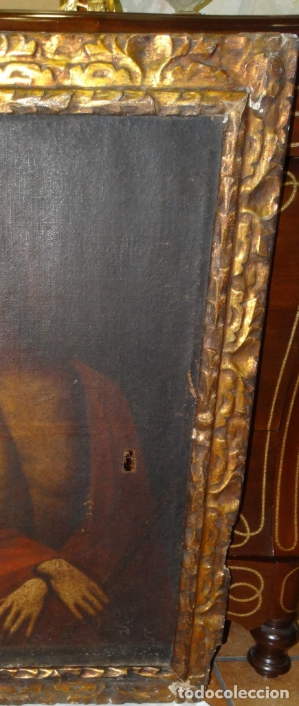 Arte: ECCE HOMO ESCUELA DE VALLADOLID S XVII OLEO Y MARCO SI XVII - Foto 6 - 178272061