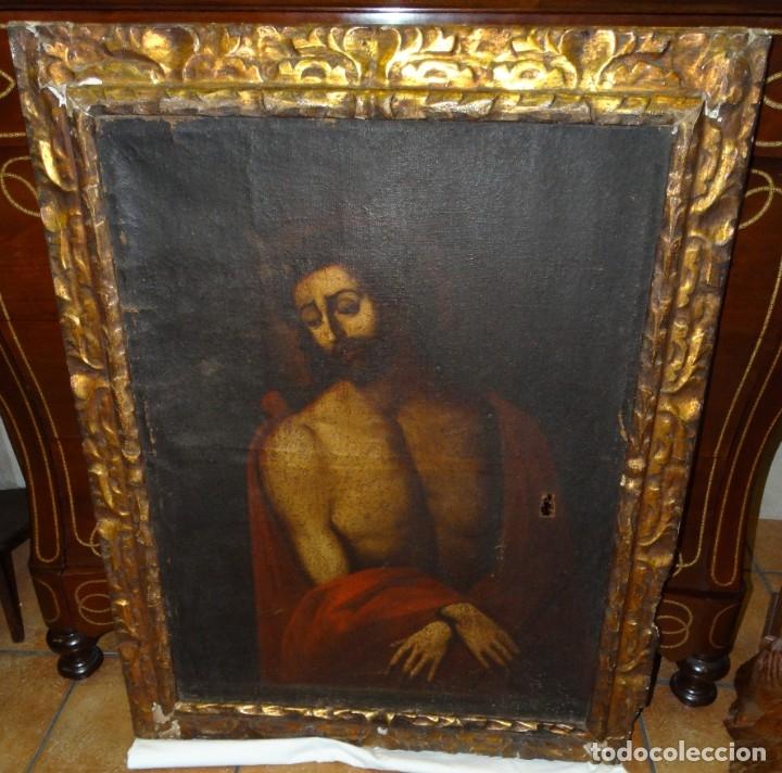Arte: ECCE HOMO ESCUELA DE VALLADOLID S XVII OLEO Y MARCO SI XVII - Foto 7 - 178272061