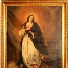 Arte: ÓLEO CON INMACULADA 114X94 CM CON MARCO DE MADERA. Lote 178277800