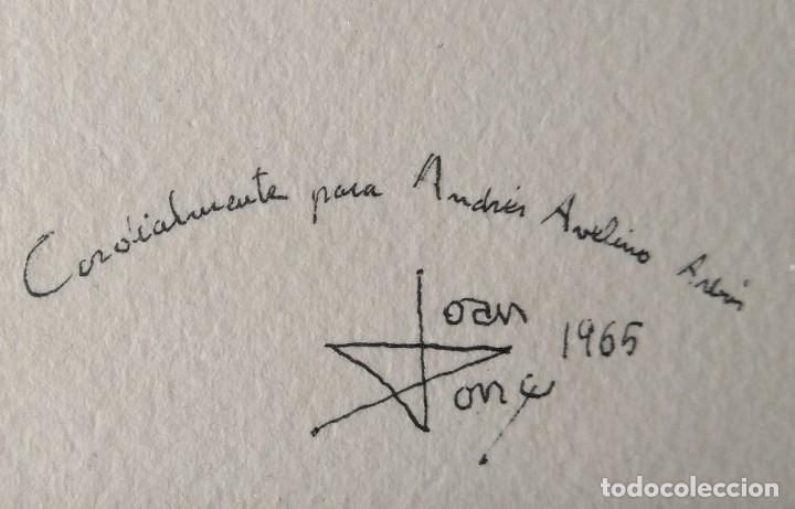 Arte: JOAN PONÇ, GRABADO FIRMADO Y NUMERADO. GALERIA RENÉ METRAS 1965 - Foto 6 - 178360275