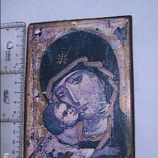 Arte: ICONO RUSO LA VIRGEN DE VLADIMIR. SERIGRAFIA SOBRE MADERA. ANDREI RUBLIOV.. Lote 178371430