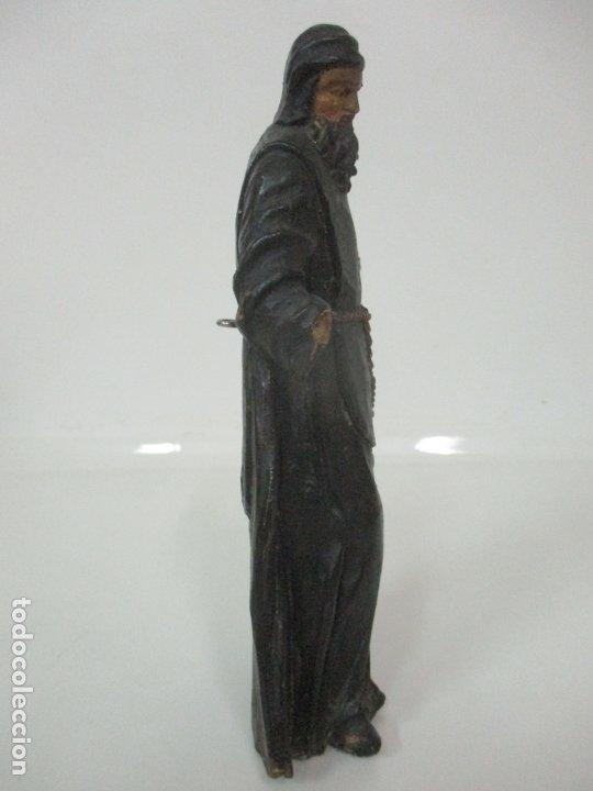 Arte: Preciosa Escultura - San Francisco de Paula - Madera Tallada y Policromada - S. XVIII - Foto 14 - 178526492
