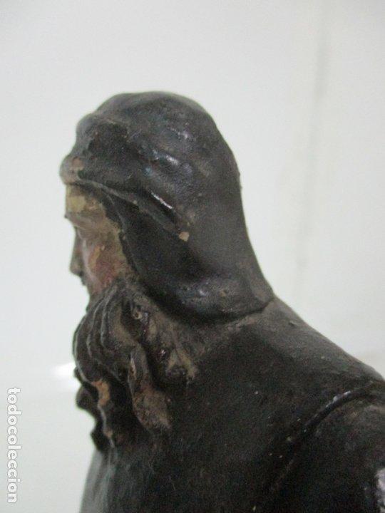 Arte: Preciosa Escultura - San Francisco de Paula - Madera Tallada y Policromada - S. XVIII - Foto 27 - 178526492