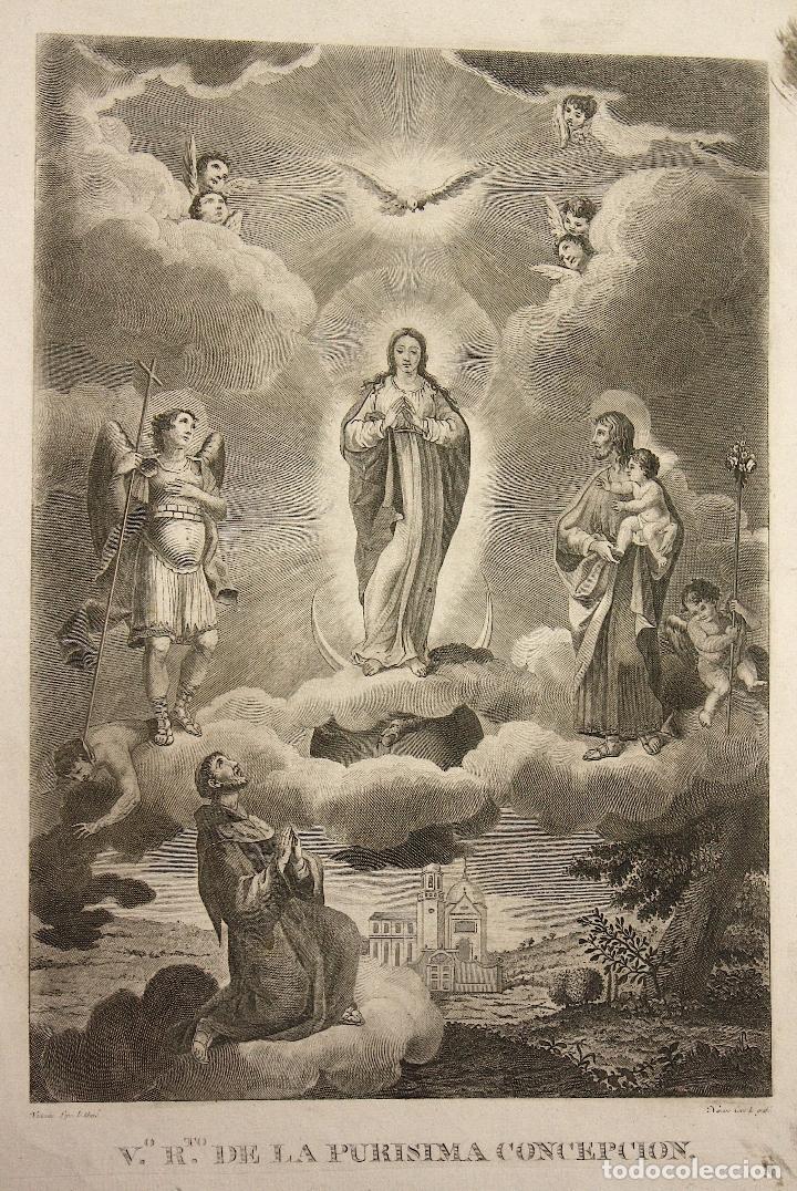 GRABADO PURISIMA CONCEPCION. SIGLO XVIII (Arte - Arte Religioso - Grabados)