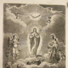 Arte: GRABADO PURISIMA CONCEPCION. SIGLO XVIII. Lote 178576922