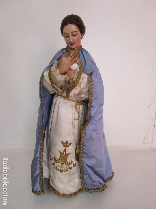 Arte: Bonita Virgen Purísima - Cap y Pota - Madera Tallada y Policromada - S. XIX - Foto 2 - 178611338