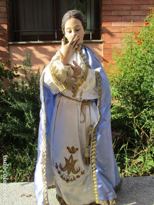 Arte: Bonita Virgen Purísima - Cap y Pota - Madera Tallada y Policromada - S. XIX - Foto 3 - 178611338