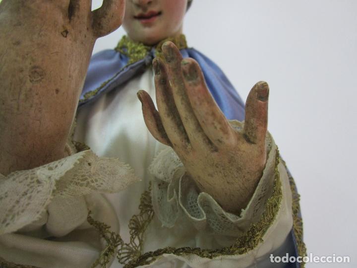 Arte: Bonita Virgen Purísima - Cap y Pota - Madera Tallada y Policromada - S. XIX - Foto 6 - 178611338