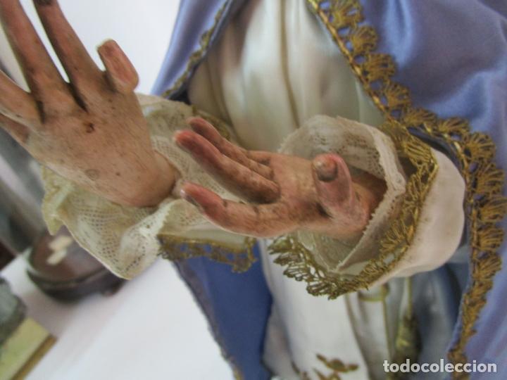 Arte: Bonita Virgen Purísima - Cap y Pota - Madera Tallada y Policromada - S. XIX - Foto 8 - 178611338
