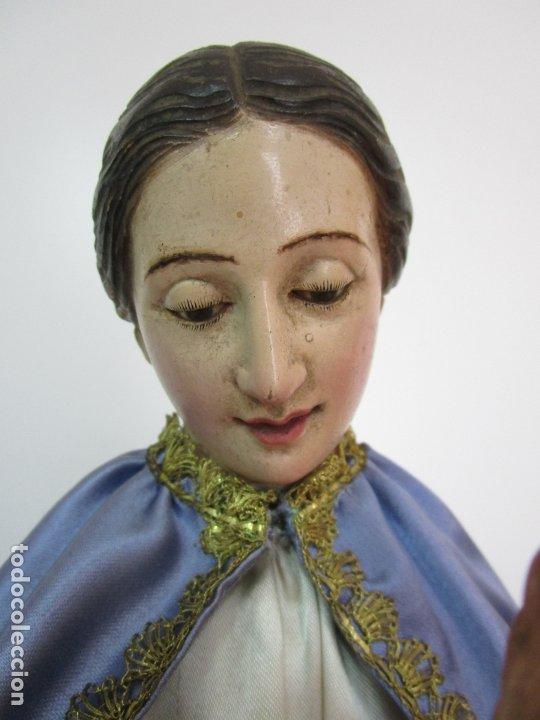 Arte: Bonita Virgen Purísima - Cap y Pota - Madera Tallada y Policromada - S. XIX - Foto 9 - 178611338