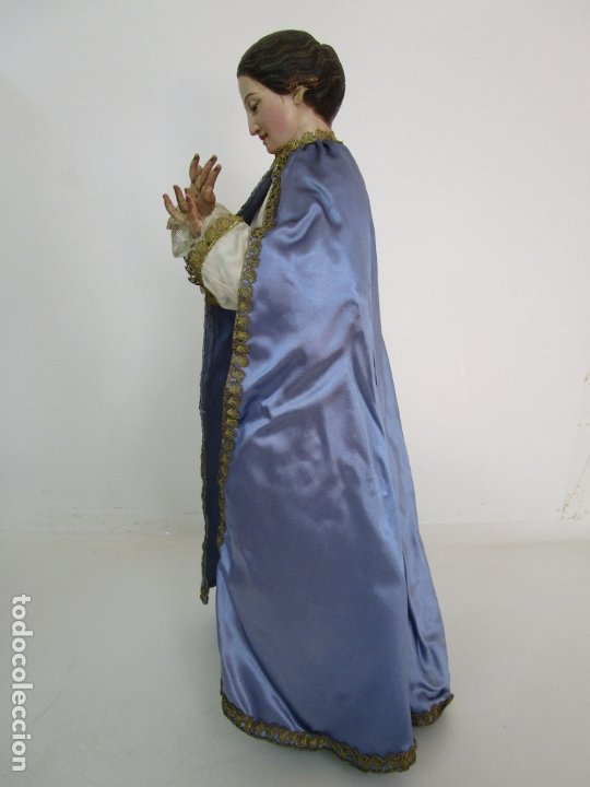 Arte: Bonita Virgen Purísima - Cap y Pota - Madera Tallada y Policromada - S. XIX - Foto 14 - 178611338