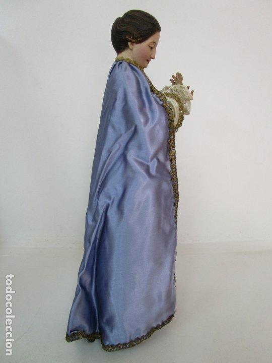 Arte: Bonita Virgen Purísima - Cap y Pota - Madera Tallada y Policromada - S. XIX - Foto 20 - 178611338