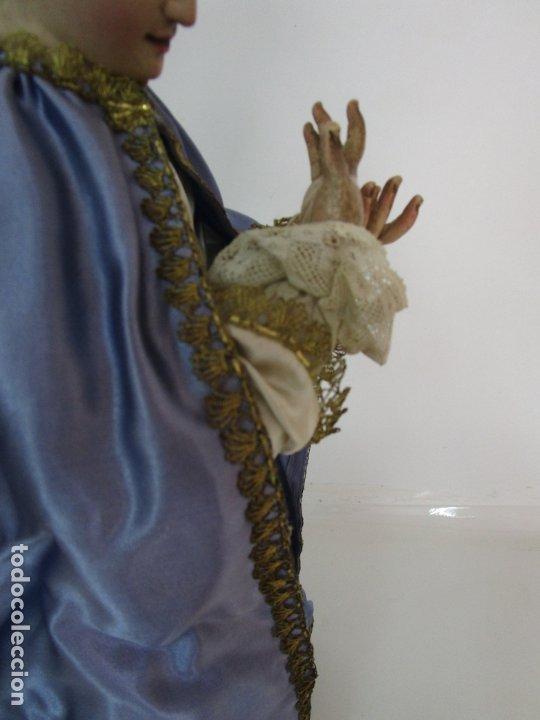 Arte: Bonita Virgen Purísima - Cap y Pota - Madera Tallada y Policromada - S. XIX - Foto 21 - 178611338